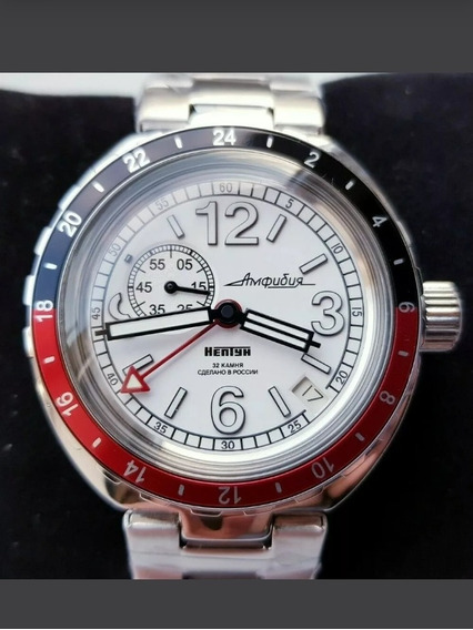 Reloj Ruso Vostok Neptune Automatico Gmt Diver 200mts Nuevo!