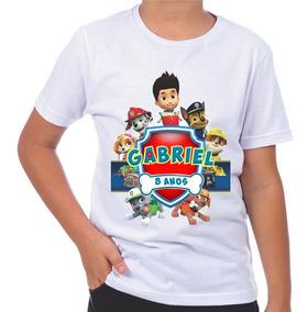 Camiseta Infantil Aniversário Turma Patrulha Canina Promoção
