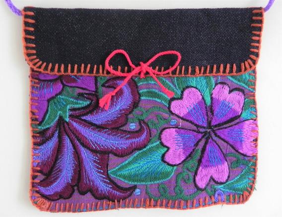 Bolsa En Bordado De Flores Artesanal Chiapaneco, Artes #18