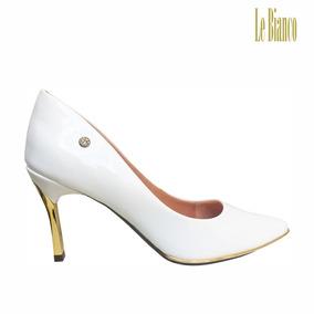 ad219989d6 Scarpin Maranello Verniz Branco Le Bianco - 649