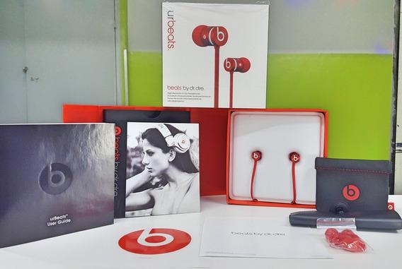 Fone Beats Urbeats + Caixa + Case Emborrachada + Manual