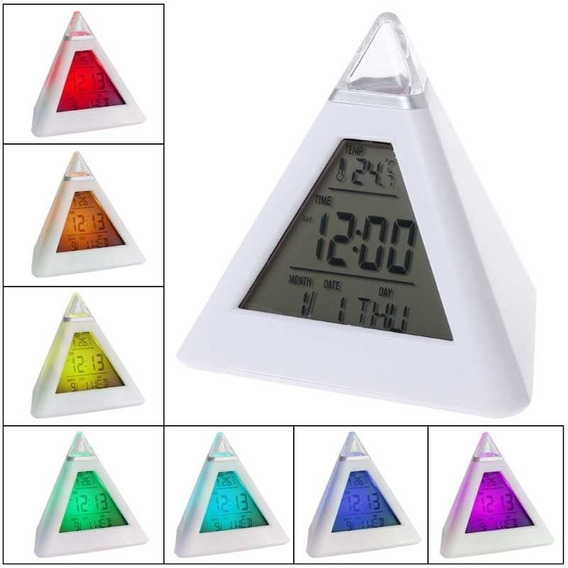 Reloj En Forma De Piramide Glowing Led