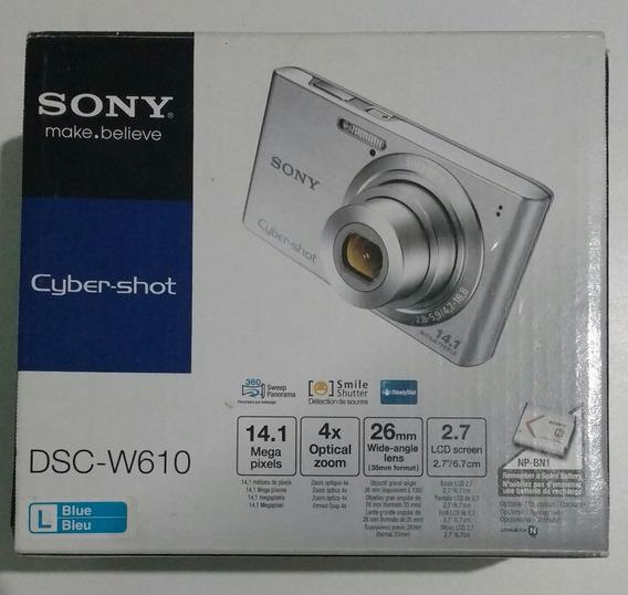 Câmera Digital Sony Cyber-shot 14.1 Mp Dsc-w610 + Cartão