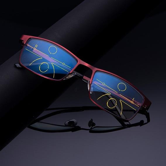 Unisex Progresivo Multifocal Gafas De Lectura Anti-blue-ray