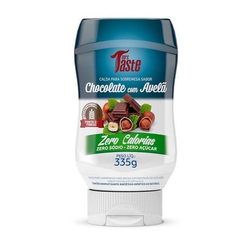 Salsa de chocolate con avellana Mrs. Taste Zero Calorías sin TACC en frasco 335g