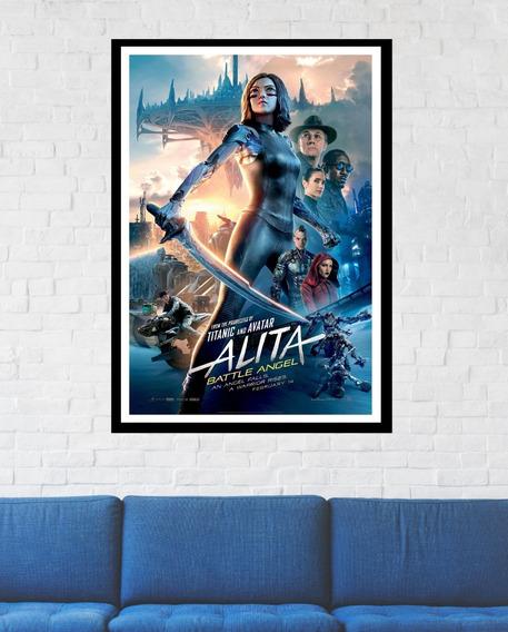 Quadro Poster Alita Anjo De Combate Filme 40x60