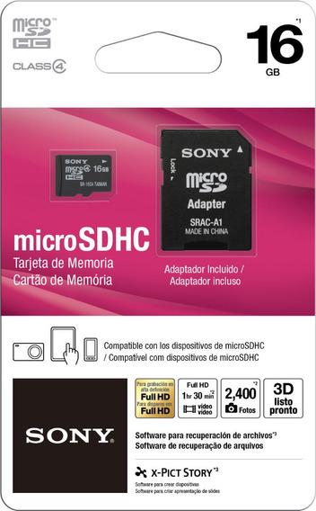 Cartão De Memória Micro Sd 16gb Sony Full Hd