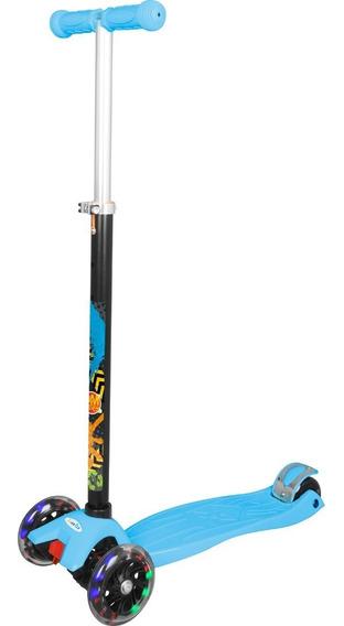 Patinete 3 Rodas Com Luzes Colorida Skatenet Infantil 40kg