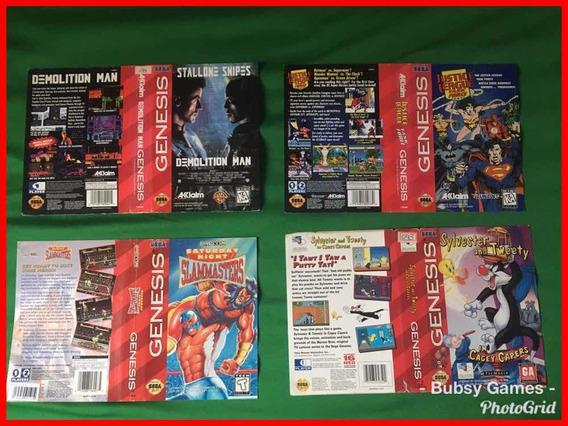 Encartes Mega Drive Genesis -justice League/slammasters
