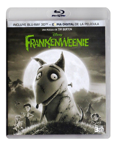Frankenweenie Disney Tim Burton Pelicula Blu-ray 3d