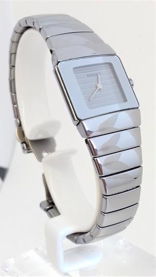 Relógio Feminino Rado Swiss Made Titanium E Cerâmica Quartz
