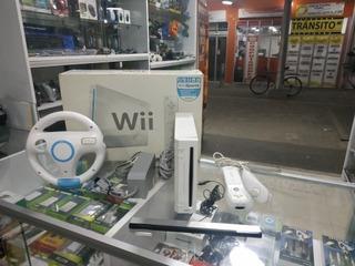 Nintendo Wii + Timón + Juegos + Envió Gratis