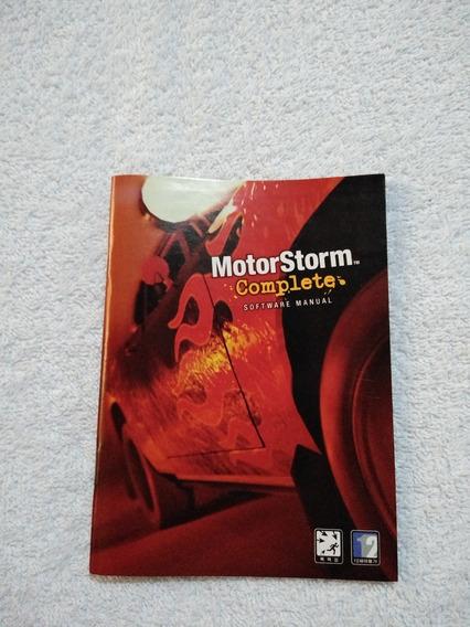 Manual Do Game Motor Storm Versão Japones Ps3 ** Leia