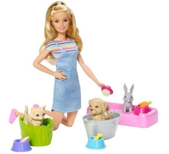 Barbie Banho De Cachorrinhos Mattel