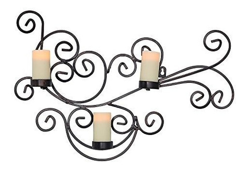 Imagen 1 de 6 de Candle Impressions Modern Bronze Candle Candle Holder With 3