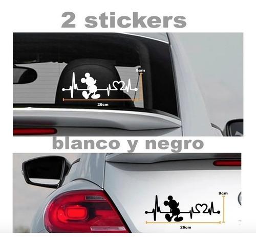 Imagen 1 de 2 de Sticker Para Auto Frecuencia De Mickey Mouse 2 Stickers