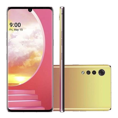 Celular Smartphone LG Velvet 128gb Amarelo - Dual Chip