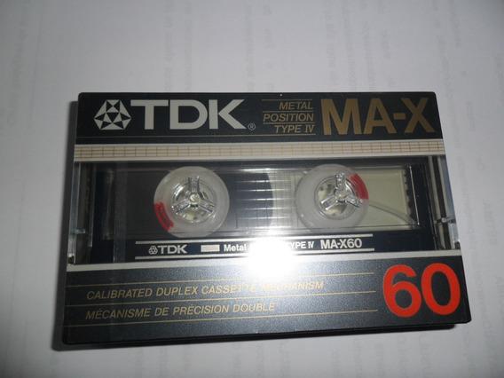 Fita Cassette Ma-x Metal Tipo 4 Novo Lacrado 60 Min