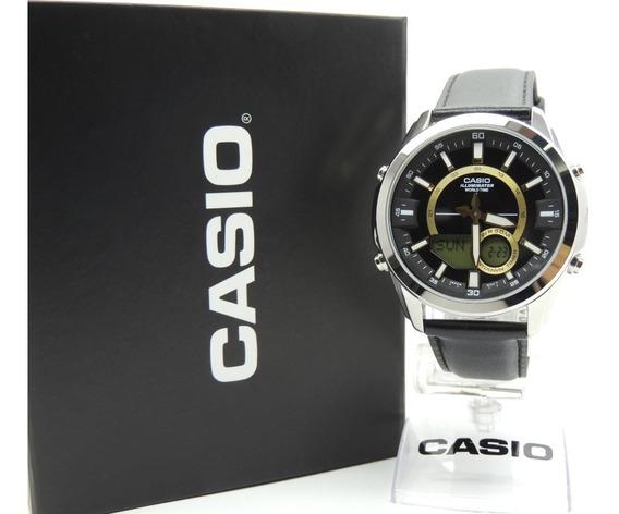 Relógio Casio Masculino Hora Mundial Amw-810l-1avdf - Nf