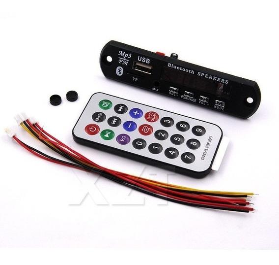 5-placa Decodifcador Usb P/ Caixa Ativ Mp3 Fm Aux Bluetooth
