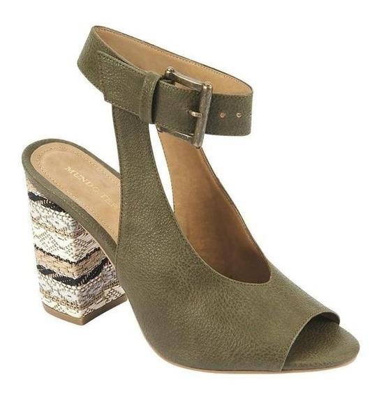 Sandalias De Tacón 9.5cm Para Dama Verde 022423 Tp19a