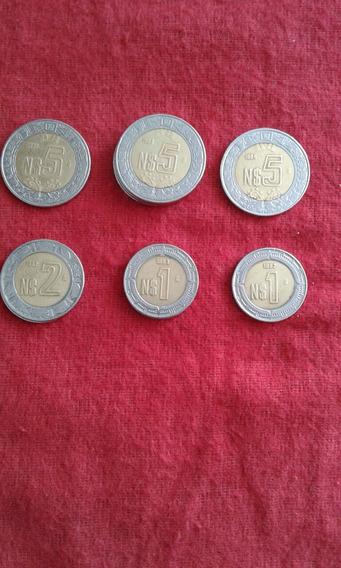 Monedas De Colección De $1 $2 Y$5 Nuevos Pesos Años 92,93,94