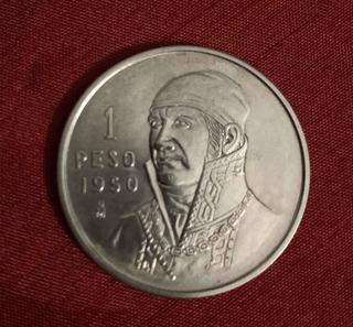 Moneda De 1 Peso De Plata De 1950