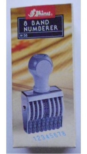 Numerador 8 Bandas 5mm.shiny No.38