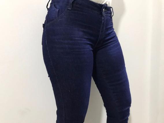 Calça Feminina Jeans Azul Com Lavagem 36 Ao 44 536