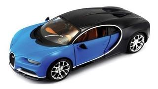 Miniatura Coleção Carro Bugatti Chiron Welly 1/24 Metal 19cm