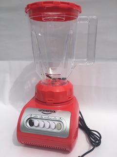 Licuadora 4 Funciones, Roja, Vaso Plastico: Batidos, Jugos