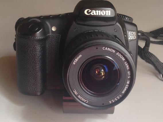 Canon Eos 20d + Lente Canon Ef-s 18-55