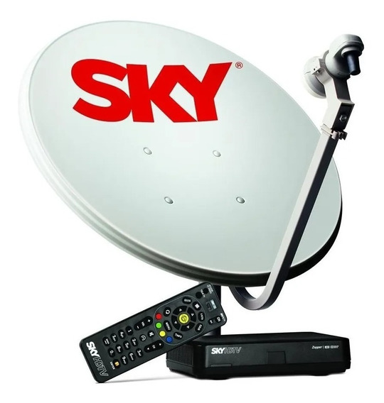 Antena Sky Pré Pago Conjunto Century Conforto Hd 60cm 2 Anos
