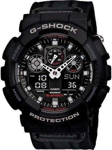 Relógio G-shock Ga-100 Com Pulseira De Náilon