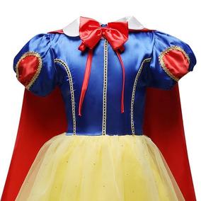 Vestido Infantil Branca De Neve Princesa Luxo Frete Grátis!