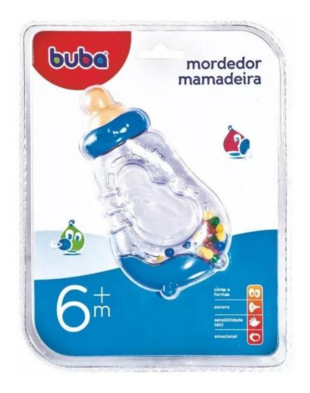 Mordedor Bebe Com Chocalho Mamadeira 6 Meses - Buba - 0943