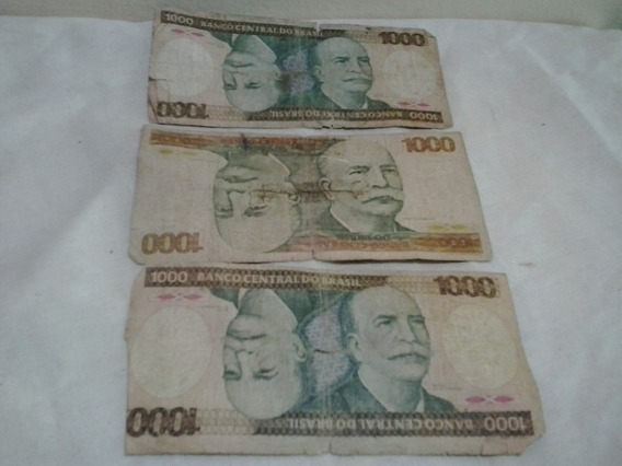 Notas Antigas 1.000 Cruzeiros - Cédula Antiga Nota