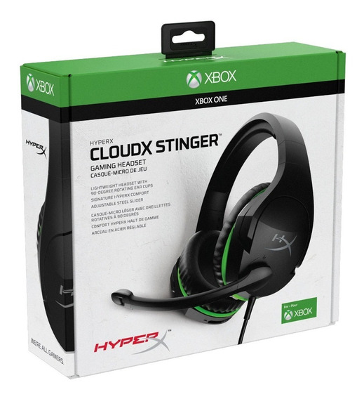 Diadema Kingston Hx Cloud Stinger Xbox Negro/verde C/mic 3.5