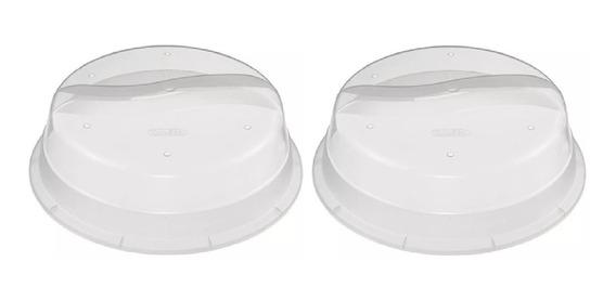 Juego De 2 Tapas Plástico Para Microondas