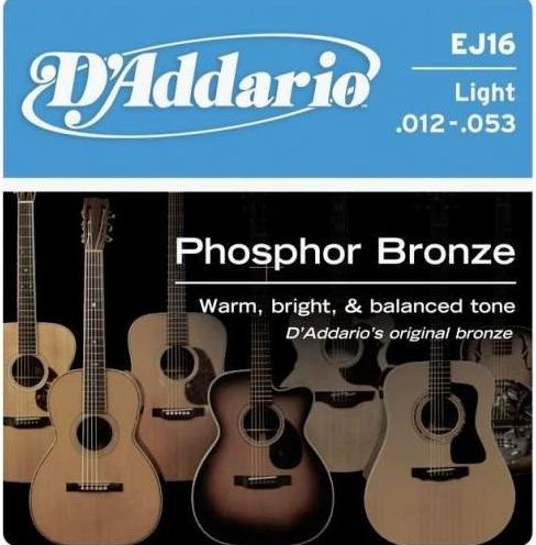 Cuerdas Guitarra Electroacustica D Addario Ej16 012-053