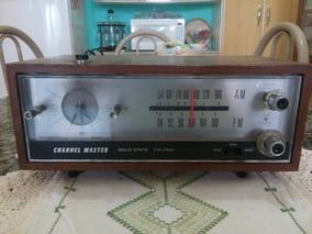 Radio Relogio Am E Fm Antigo De Madeira.......veja Video...