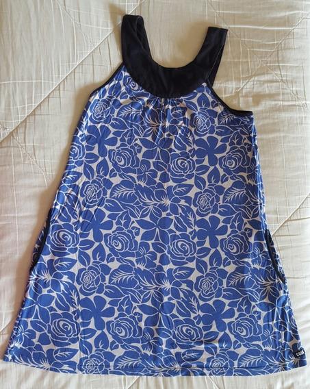Vestido Jhon L Cook Mujer, Blanco Y Azul, Talle 40 - S