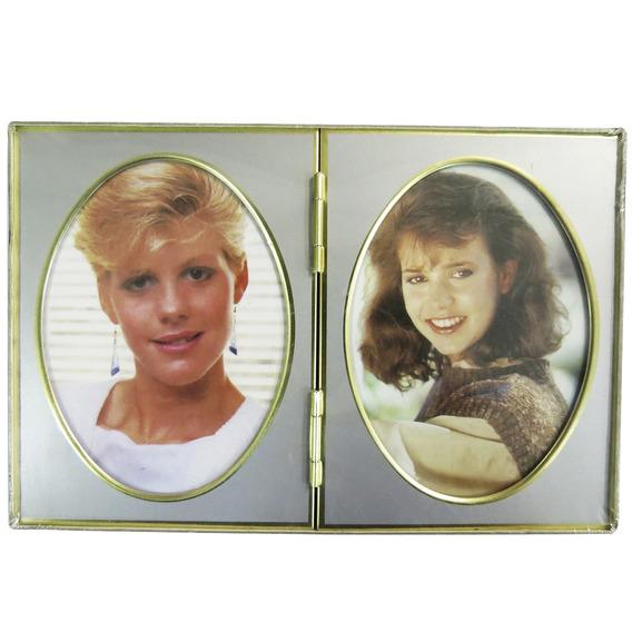 Porta-retrato Duplo Retro 9 X 13 Cm - Lavie 704-052005
