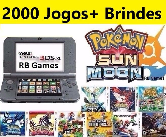 New Nintendo 3ds Xl + 2000 Jogos + Pokemon Mario Zelda 64gb