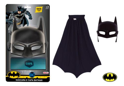 Imagem 1 de 3 de Fantasia Super Herói Batman Aventura Com Acessórios Rosita