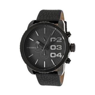 Reloj Diesel Double Down Dz4216 Hombre Cuero Negro 51mm