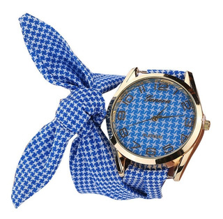 Reloj Pulsera Analogico Malla Tela - No Es Sumergible!!