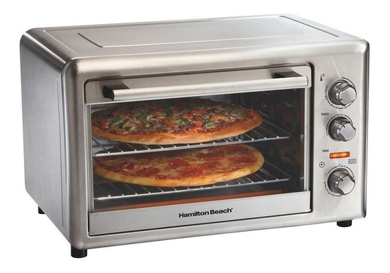 Horno eléctrico Hamilton Beach Countertop Oven with Convection and Rotisserie Stainless steel 110V