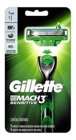 Gillette Mach3 Sensitive Aparelho De Barbear Caixa 20 Unid.