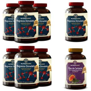 7 Magnésio Dimalato Nutriblue + 1 Óleo De Cartamo